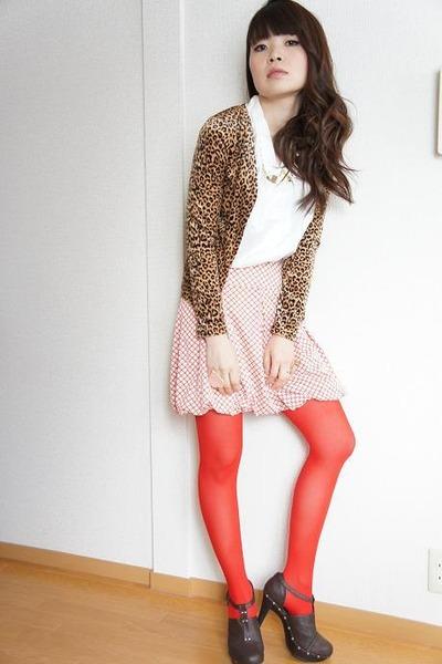 used cardigan - used skirt