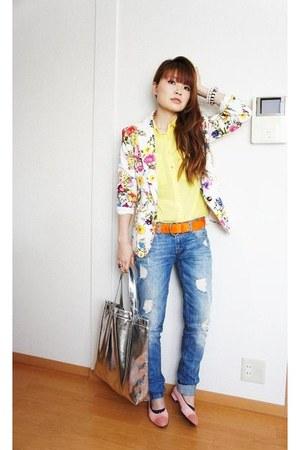 f21 jacket - Zara jeans - H&M shirt