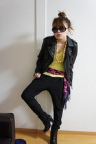 Forever21 boots - Zara pants - ANAP glasses