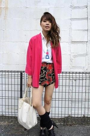 Zara jacket - f21 necklace
