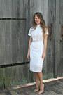 White-asos-dress-nude-christian-louboutin-pumps