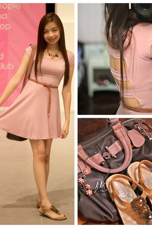 dress - bag - accessories - belt