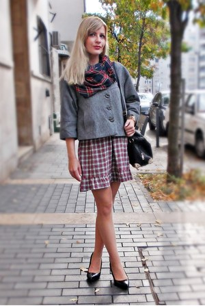 Stradivarius dress - new look jacket - reserved scarf