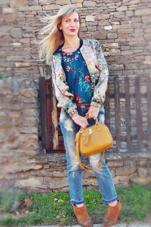 Zara jeans - Bershka jacket - Primark bag