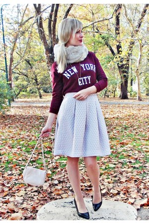 H&M skirt - pull&bear sweater - F&F heels