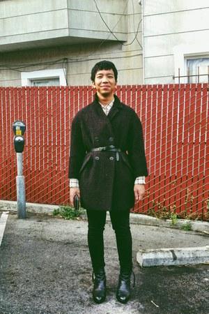 crimson Etoile isabel marant coat - black Acne Studios boots