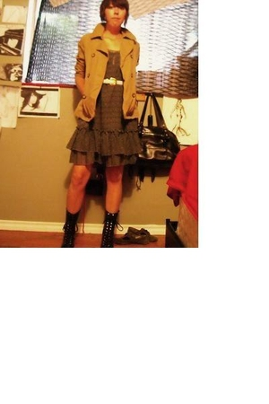 Gap jacket - forever 21 dress - belt - giancarlo paoli boots