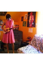 sunglasses - modcloth dress - accessories - shoes