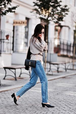 distressed H&M jeans - oversized Medicine sweater
