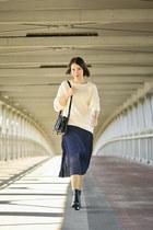 pleated Orsay skirt