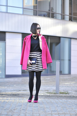 striped H&M skirt - pink Atmosphere coat