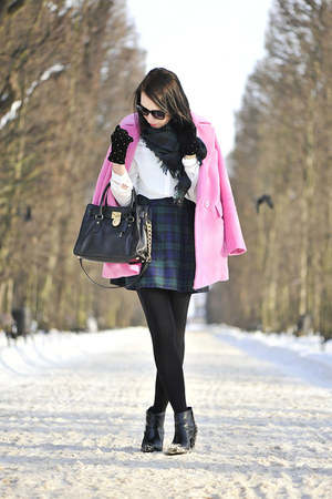 cotton Front Row Shop coat - tartan F&F skirt