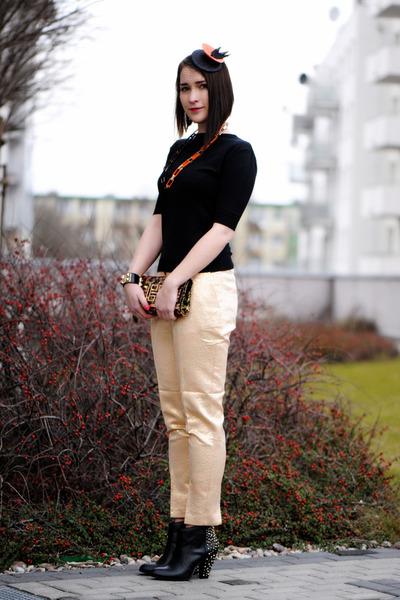 orange shiny H&M pants