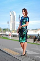 mirror heels shoelook shoes - sequins AX Paris dress