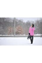 pink Front Row Shop coat - Zara shoes