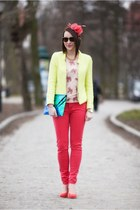 neon cotton Zara jacket