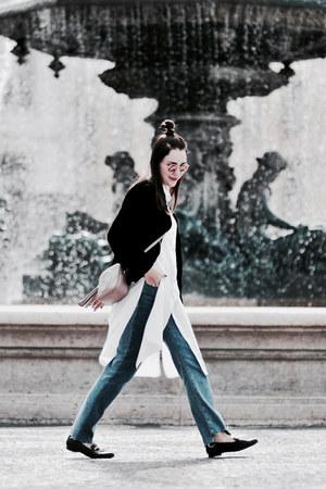 long shirt blueShadow shirt - soho Gucci bag