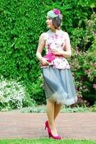 new look blouse - missspark skirt