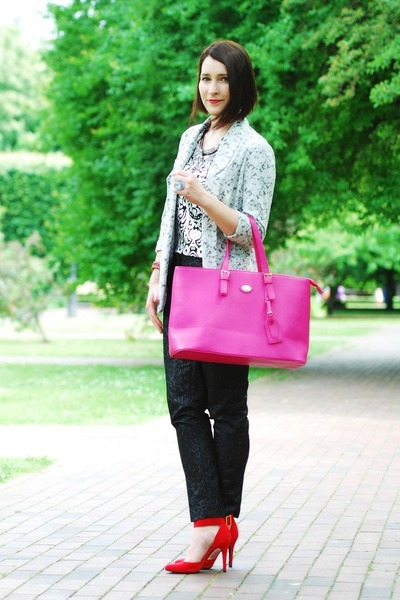 pink big jetset Orsay bag - H&M pants