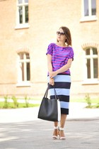 Zara skirt - stripes colors Orsay blouse