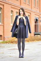 melissa vivienne westwood shoes - lace new look dress - navy new look coat