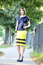 neon cotton new look skirt
