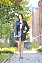 trench coat new look coat - checkered new look skirt