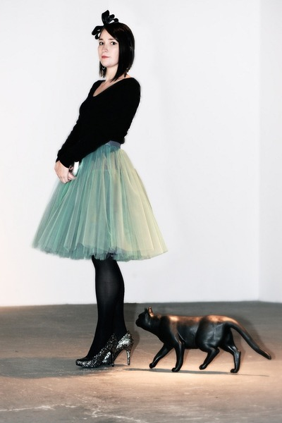 tulle FANFARONADA skirt - bow H&M accessories