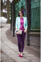 mint elegant H&M jacket - KappAhl blouse