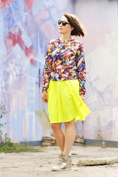 neon lilalu skirt - sporty cotton evc dsgn blouse