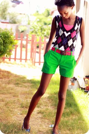 top - vest - shorts