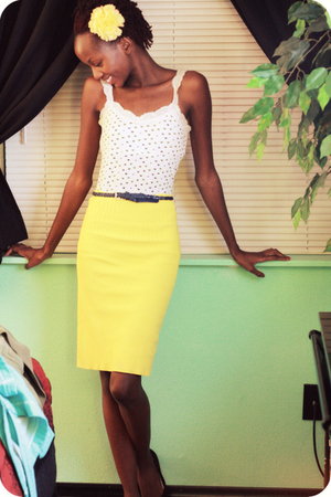 DIY skirt - Aeropostale top