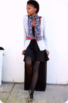 dress - sweater - scarf - belt