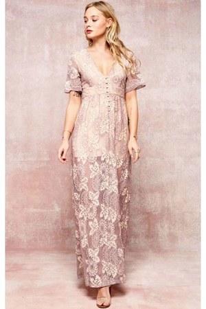 peach maxi dress collettescloset dress