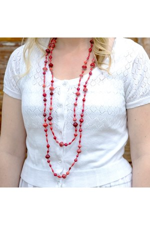 red beaded beadforlife necklace