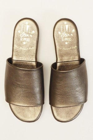 camel leather flats