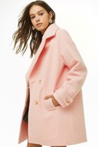 peach wool coat