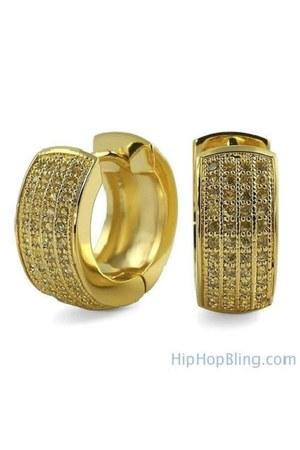 hoop Hip Hop Bling earrings