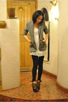 Hugo Boss jacket - random top - landmark leggings - GoJane boots