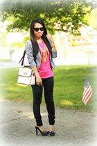 vintage bag - cat eye sunglasses - American Eagle pants - Target pumps