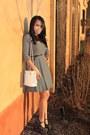 Striped-target-dress-bag-new-york-co-belt-unknown-brand-wedges