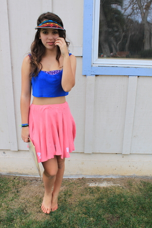 pink skirt - blue - American Apparel - American Apparel