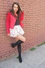 Red-zac-posen-for-target-jacket-white-skirt-gray-american-apparel-shirt-bl