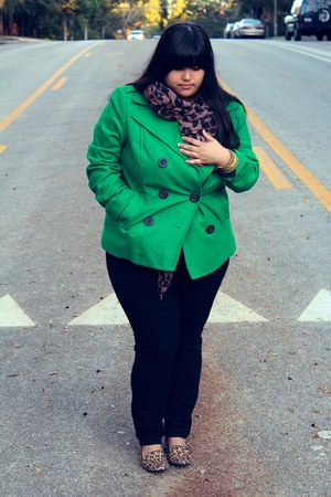 green emerald peacoat Old Navy coat - black rockstar Old Navy jeans