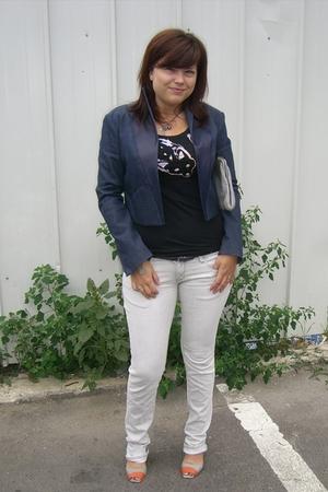 Kevin Geddes jacket - Mango t-shirt - Zara jeans - vintage bally purse - Finsk f