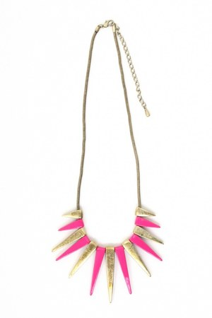 hot pink spike necklace necklace