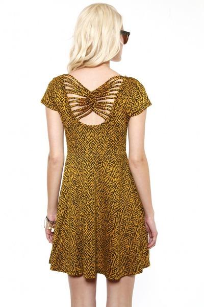 bronze skater dress dress