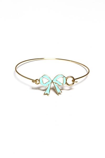 mint bow bracelet