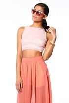 light pink crop top