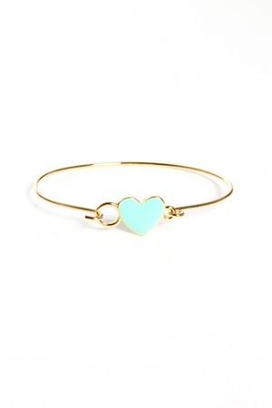light blue heart bracelet